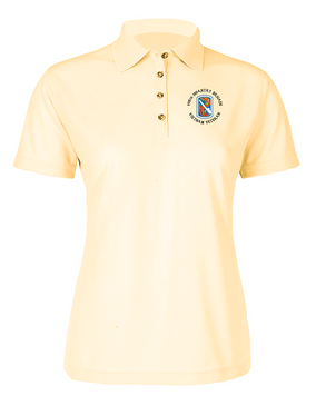 "198th Light Infantry Brigade ""Vietnam"" (C)   Ladies Embroidered Moisture Wick Polo Shirt"