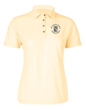 "198th Light Infantry Brigade ""Vietnam"" (C)   Ladies Embroidered Moisture Wick Polo Shirt"
