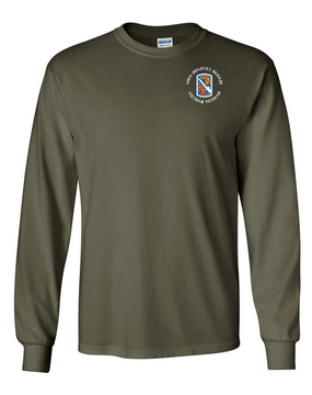 "198th Light Infantry Brigade ""Vietnam"" (C) Long-Sleeve Cotton T-Shirt"