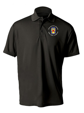 199th Light Infantry Brigade (C)  Embroidered Moisture Wick Polo  Shirt