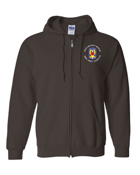 199th Light Infantry Brigade (C) Embroidered Hooded Sweatshirt with Zipper