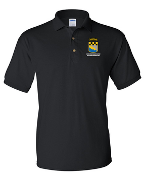 525th Expeditionary MI Brigade (Airborne) Embroidered Cotton Polo Shirt