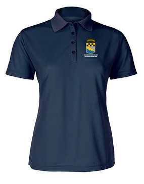 525th Expeditionary MI Brigade (Airborne)  Ladies Embroidered Moisture Wick Polo Shirt