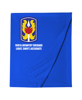 199th Light Infantry Brigade Embroidered Dryblend Stadium Blanket