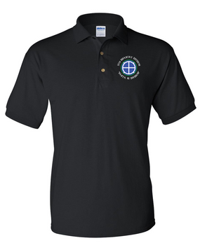 35th Infantry Division (C)  Embroidered Cotton Polo Shirt