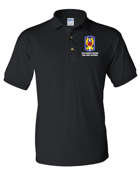 199th Light Infantry Brigade Embroidered Cotton Polo Shirt