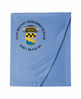 525th Expeditionary MI Brigade (Airborne) (C)  Embroidered Dryblend Stadium Blanket