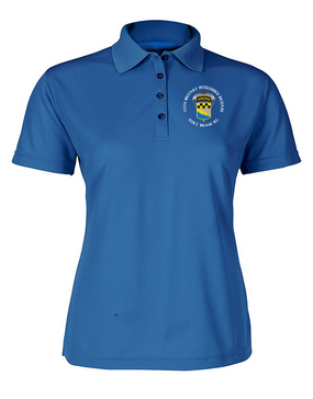 525th Expeditionary MI Brigade (Airborne) (C) Ladies Embroidered Moisture Wick Polo Shirt