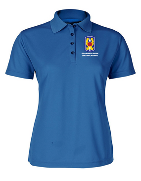 199th Light Infantry Brigade Ladies Embroidered Moisture Wick Polo Shirt