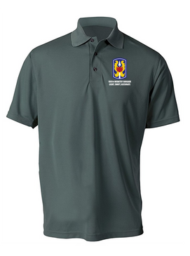 199th Light Infantry Brigade Embroidered Moisture Wick Polo  Shirt