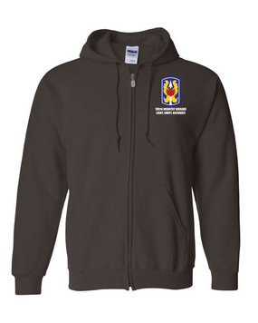 199th Light Infantry Brigade  Embroidered Hooded Sweatshirt with Zipper