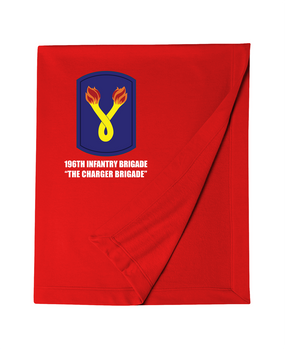 196th Light Infantry Brigade  Embroidered Dryblend Stadium Blanket