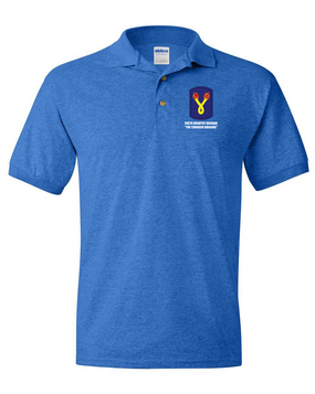 196th Light Infantry Brigade Embroidered Cotton Polo Shirt