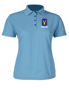 196th Light Infantry Brigade Ladies Embroidered Moisture Wick Polo Shirt