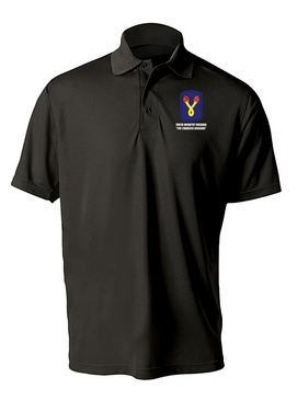 196th Light Infantry Brigade Embroidered Moisture Wick Polo  Shirt