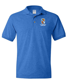 "198th Light Infantry Brigade ""Vietnam"" Embroidered Cotton Polo Shirt"