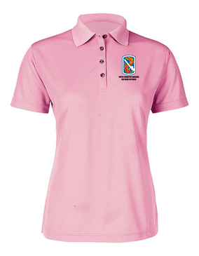 "198th Light Infantry Brigade ""Vietnam""  Ladies Embroidered Moisture Wick Polo Shirt"
