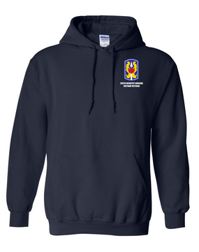 "199th Light Infantry Brigade ""Vietnam""  Embroidered Hooded Sweatshirt"
