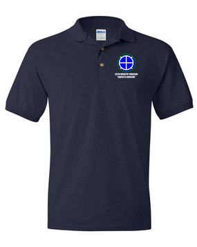 35th Infantry Division Embroidered Cotton Polo Shirt
