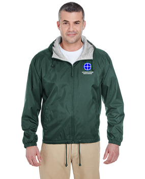 35th Infantry Division Embroidered Fleece-Lined Hooded Jacket