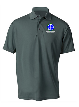 35th Infantry Division Embroidered Moisture Wick Polo Shirt