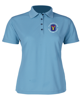 "196th Light Infantry Brigade ""Vietnam"" (C)  Ladies Embroidered Moisture Wick Polo Shirt"