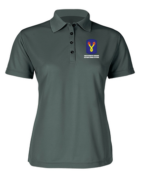 "196th Light Infantry Brigade ""Vietnam"" Ladies Embroidered Moisture Wick Polo Shirt"