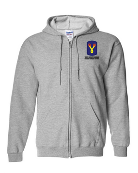 "196th Light Infantry Brigade ""Vietnam""  Embroidered Hooded Sweatshirt with Zipper"