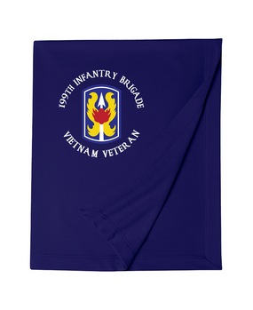 "199th Light Infantry Brigade ""Vietnam"" (C)   Embroidered Dryblend Stadium Blanket"