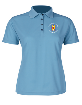 "199th Light Infantry Brigade ""Vietnam"" (C)  Ladies Embroidered Moisture Wick Polo Shirt"