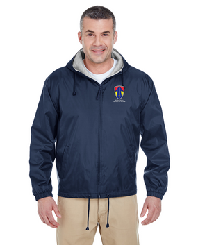 II Field Force Embroidered Fleece-Lined Hooded Jacket
