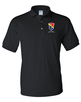 I Field Force Embroidered Cotton Polo Shirt