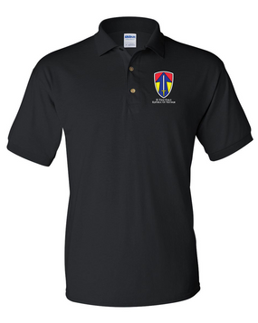 II Field Force Embroidered Cotton Polo Shirt
