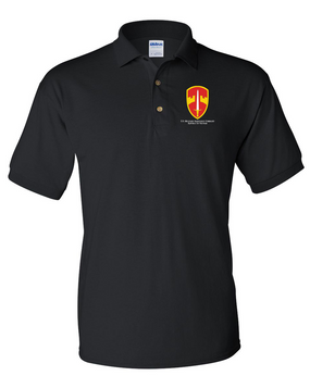 MACV Embroidered Cotton Polo Shirt