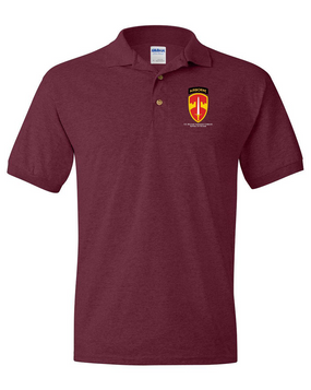 MACV (Airborne) Embroidered Cotton Polo Shirt