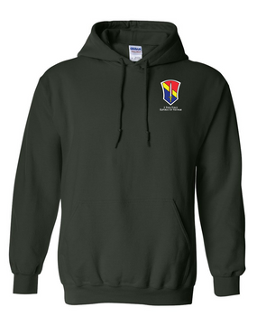 I Field Force Embroidered Hooded Sweatshirt