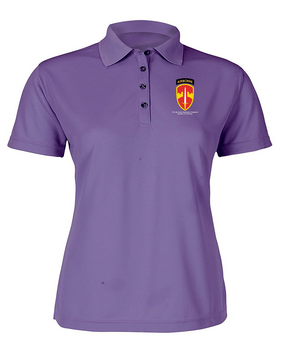 MACV (Airborne)  Ladies Embroidered Moisture Wick Polo Shirt