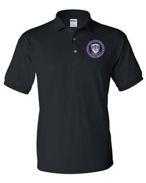 501st PIR -Proudly Served- Embroidered Cotton Polo Shirt