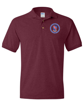 508th PIR (Crest)   -Proudly Served- Embroidered Cotton Polo Shirt