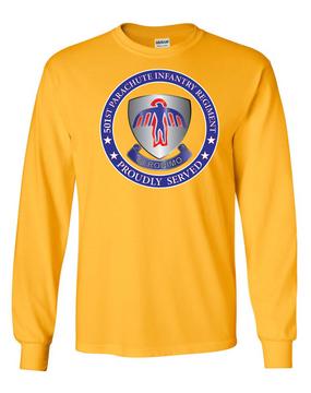 501st PIR  -Proudly Served -Long-Sleeve Cotton T-Shirt  (FF)