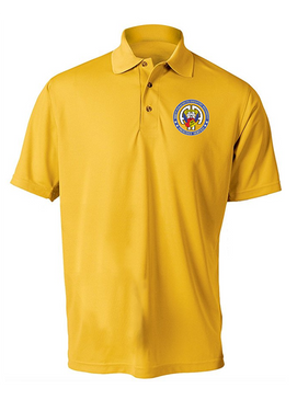 504th PIR -Proudly Served-Embroidered Moisture Wick Polo Shirt