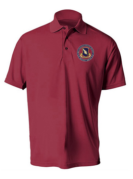 504th PIR (Crest)  -Proudly Served-Embroidered Moisture Wick Polo Shirt