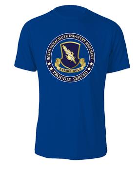 504th PIR (Crest)   - Proudly Served - Cotton Shirt  (FF)