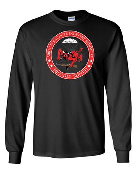 508th PIR   -Proudly Served -Long-Sleeve Cotton T-Shirt  (FF)