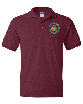 3/73rd Armor (Airborne)  Embroidered Cotton Polo Shirt