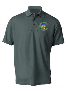 3/73rd Armor  (Airborne) Embroidered Moisture Wick Polo Shirt
