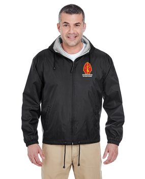 2nd Marine Division  Embroidered Fleece-Lined Hooded Jacket