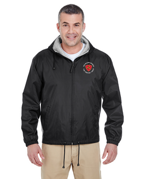 "3rd Marine Division ""Fighting Third""  C- Embroidered Fleece-Lined Hooded Jacket"