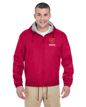 "3rd Marine Division ""Fighting Third"" Embroidered Fleece-Lined Hooded Jacket"