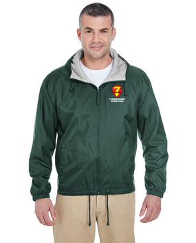 "7th Marine Regiment  ""Vietnam"" Embroidered Fleece-Lined Hooded Jacket"